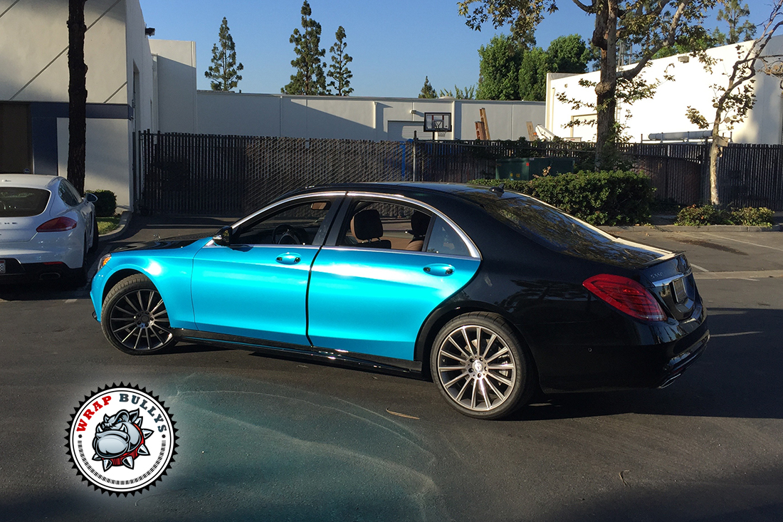 2015 Mercedes Benz Car Wrap | Teal Blue Mercedes