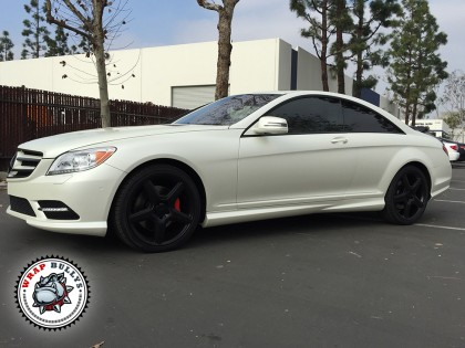Mercedes Benz Cl550 AMG Wrapped in Satin Pearl White
