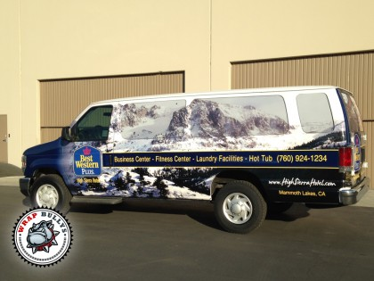 Best Western Plus Shuttle Van Wrap