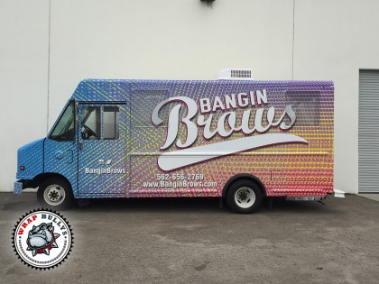 Banging Brows Mobile Boutique Fashion Truck Wrap