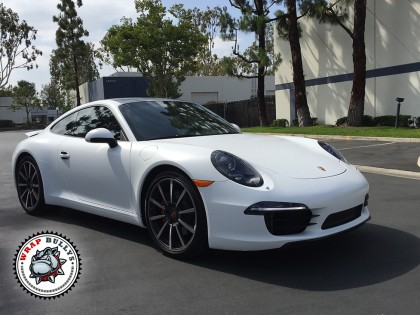 Porsche 911 Wrapped in 3M Satin White