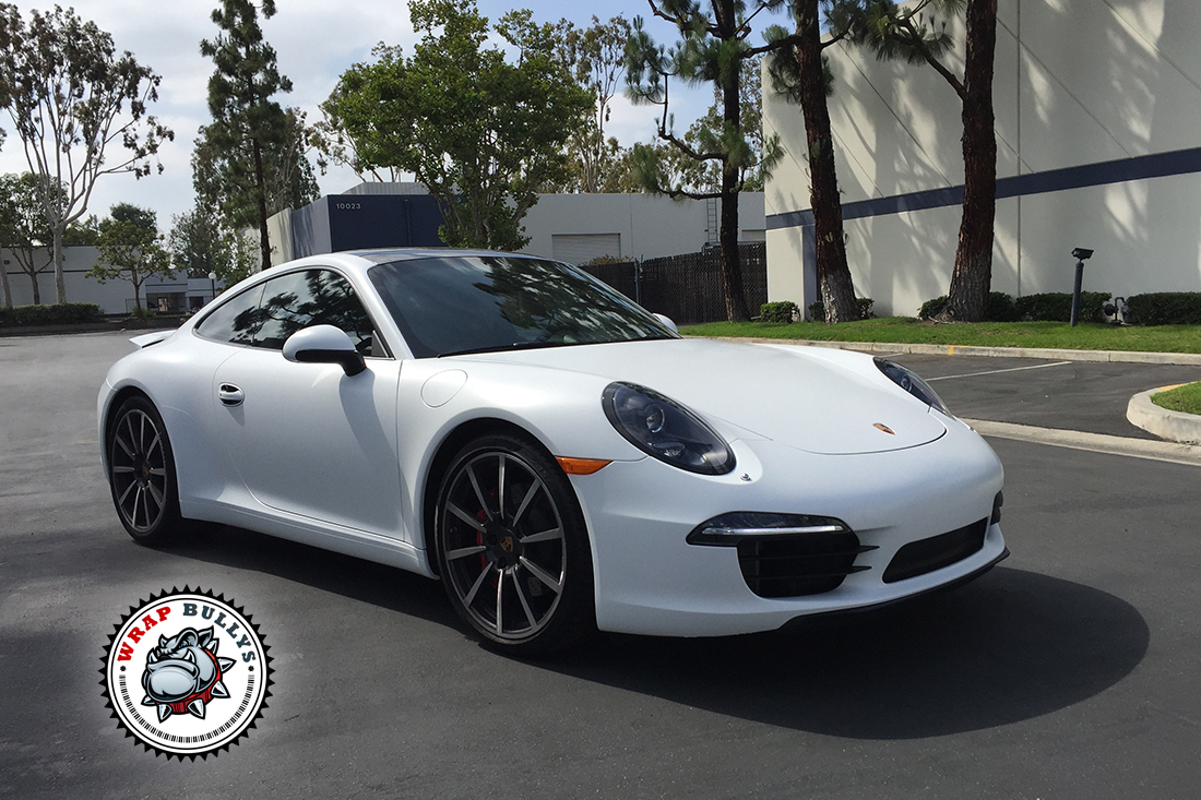 Porsche 911 Wrapped In 3m Satin White Wrap Bullys