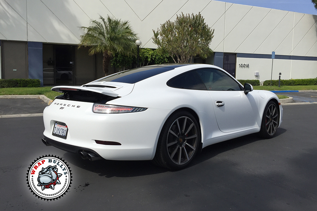 Porsche 911 Wrapped in Satin White Wrap