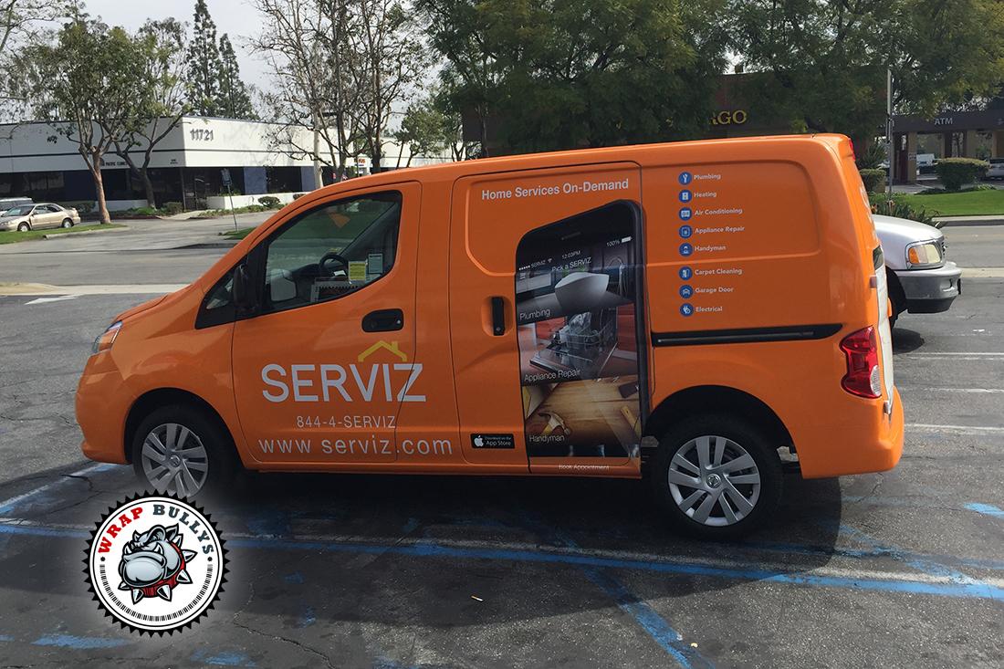Serviz Fleet Car Wrap