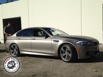 BMW M5 Wrapped in 3M Matte Gray Aluminum