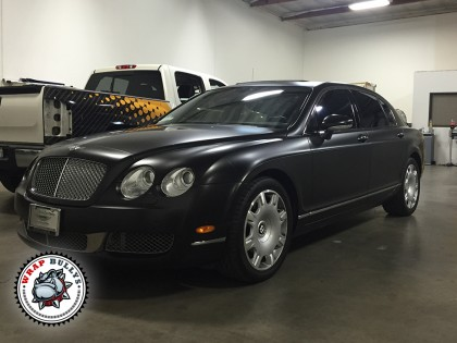 Bentley Continental Flying Spur Satin Black Car Wrap
