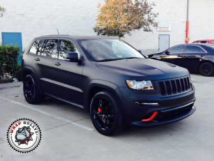 Jeep SRT8 Wrapped in 3M Deep Matte Black Vehicle Wrap