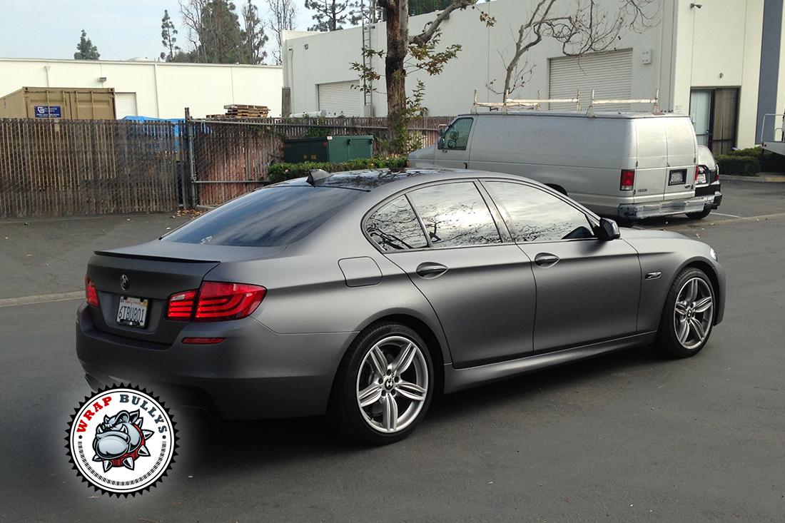 Bmw 550i Wrapped In 3m Dark Gray Car Wrap Wrap Bullys