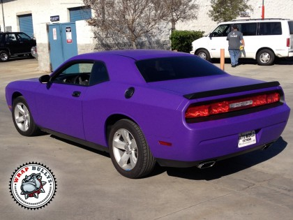 Dodge Challanger Wrapped in 3M Matte Purple