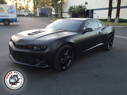 Chevy Camaro SS Wrapped in 3M Satin Black Car Wrap