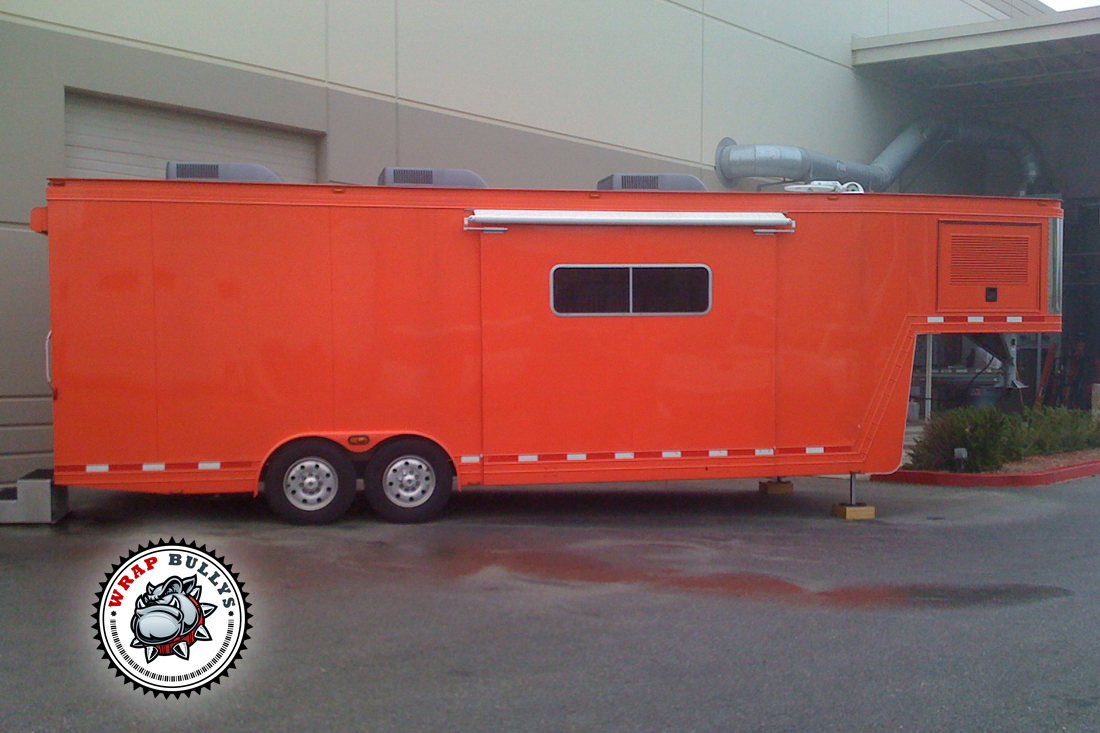 Custom trailer wraps. Graphics or color changes, Gloss or matte wraps.