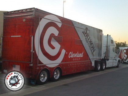 Cleveland Golf Trailer Graphics Wrap