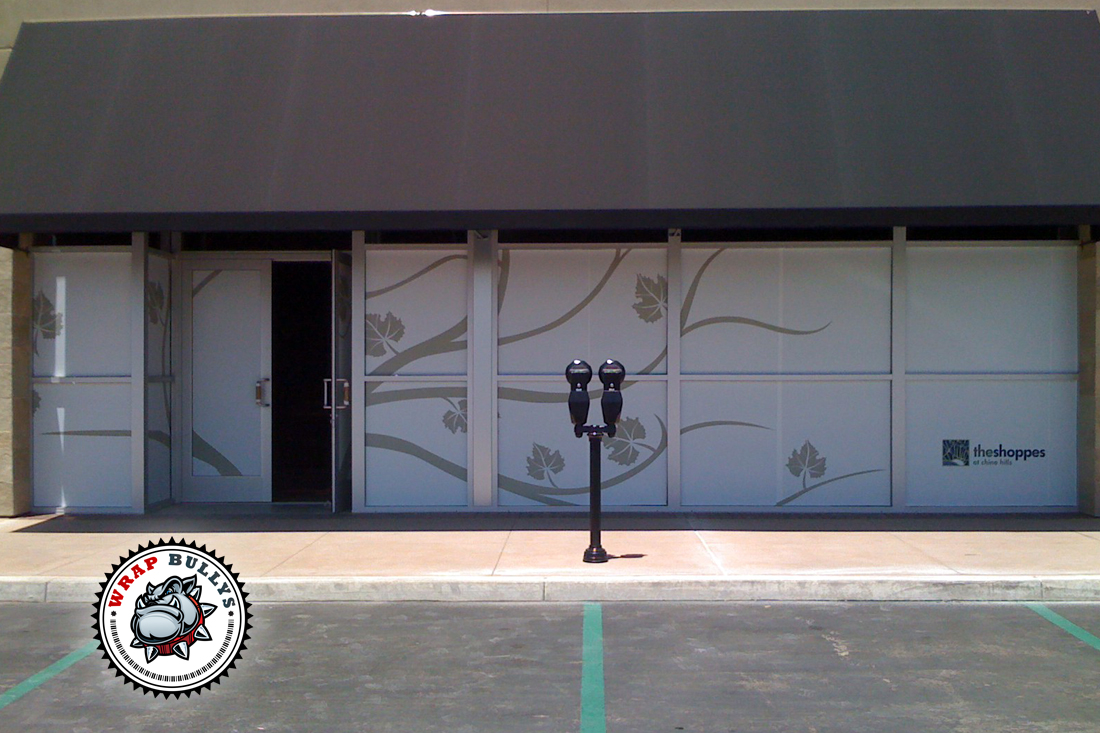 Storefront window graphics wraps installation wrap bullys for Window graphics