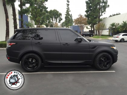 Range Rover Wrapped In 3m Deep Matte Black Wrap Bullys