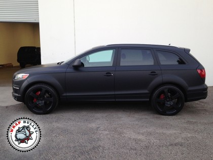 Audi Q7 Wrapped in 3M Matte Black Car Wrap