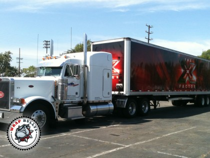 The X Factor Semi Tractor and Trailer Graphics Wrap