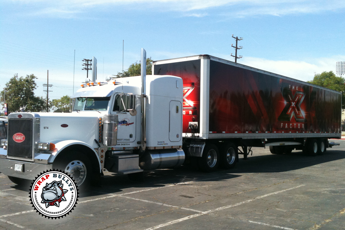 The X Factor Semi Tractor And Trailer Graphics Wrap Wrap