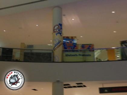 Wetzels Pretzels Mall Column Wrap