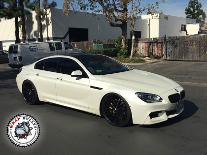 BMW Gran Coupe Wrapped in Satin Pearl White Wrap