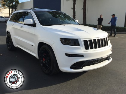 Jeep SRT Wrapped in 3m Satin White