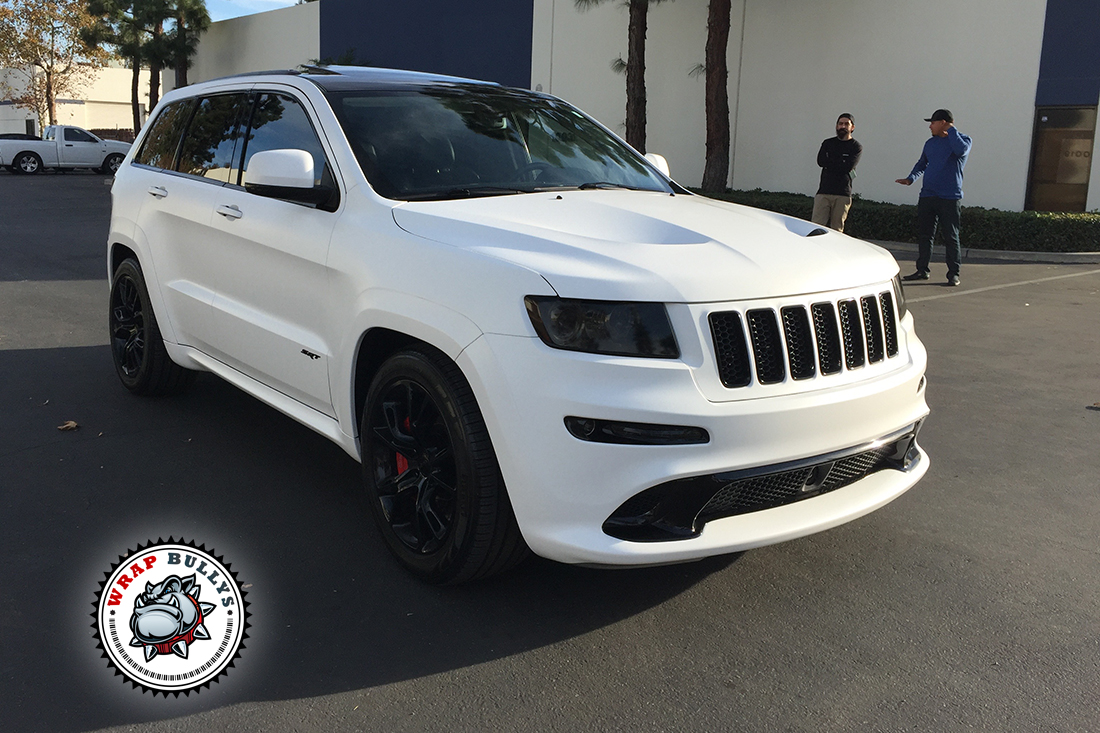 Jeep Srt Wrapped In 3m Satin White Wrap Bullys