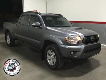 Toyota Tacoma Wrapped in 3M Matte Gray