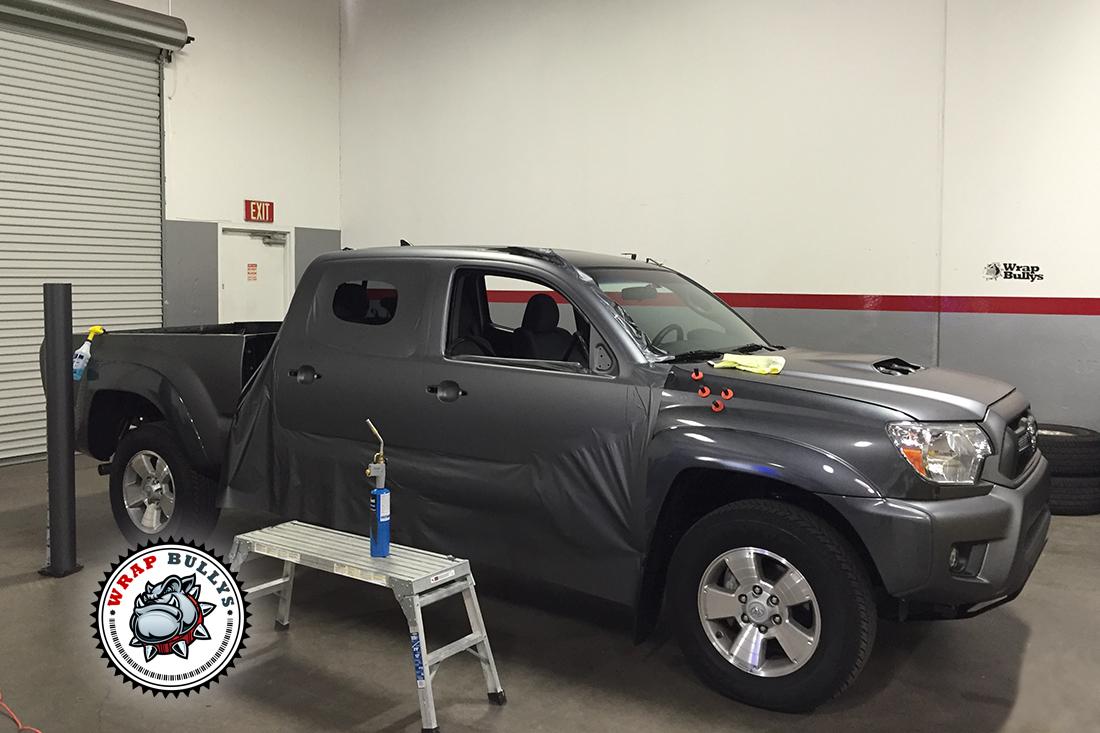 Matte Gray Toyota Tacoma Wrap Wrap Bullys