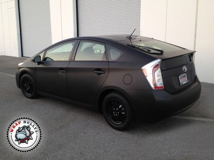Toyota Prius Wrapped in Matte Black Wrap
