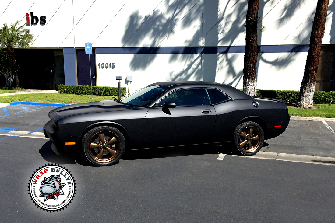 Dodge Challenger Wrapped In 3m Matte Black Wrap Bullys
