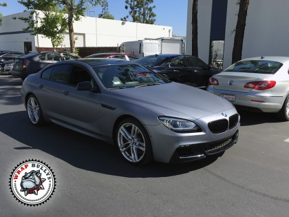 BMW Gran Coupe M6 Matte Silver Car Wrap