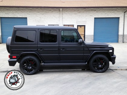 Mercedes Benz G55 AMG Wrapped in Satin Black White