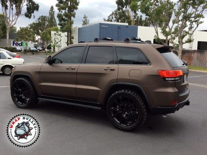 Jeep Wrapped in 3M Matte Brown