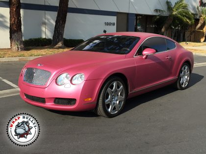 Bentley Wrapped in Avery Metallic Pink
