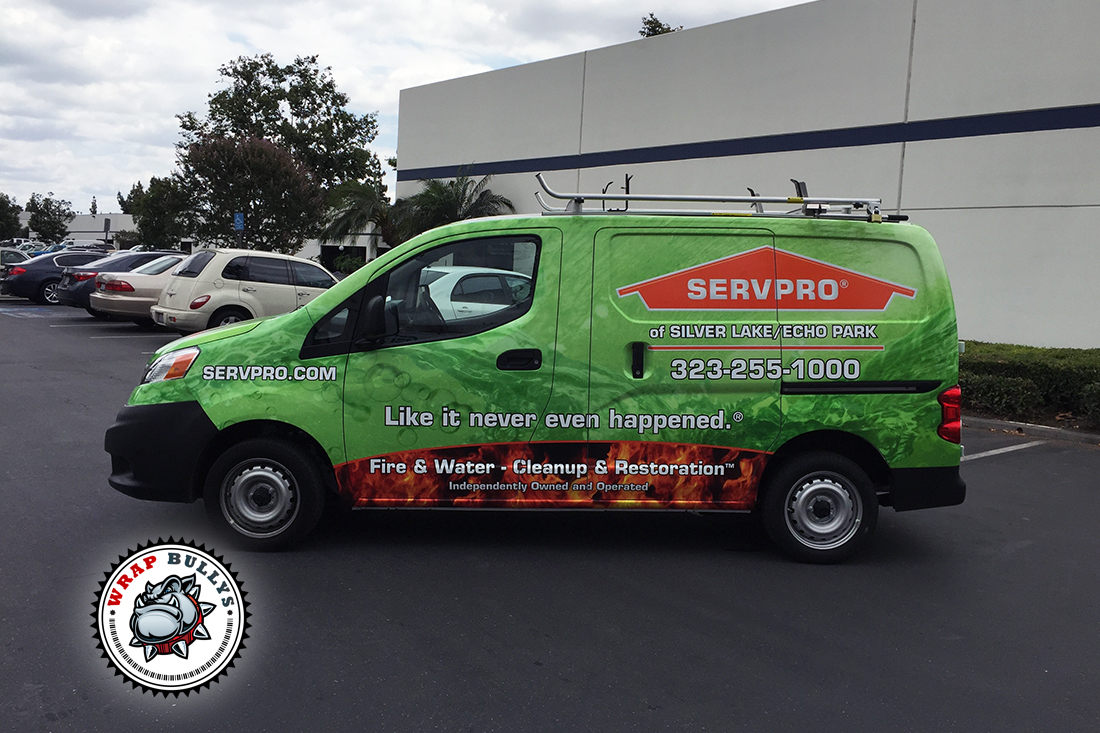 ServPro Nissan Nv200 Van Wrap | Wrap Bullys