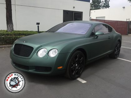 Matte Green Bentley Car Wrap