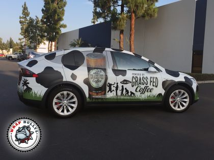 Tesla Model X Wrapped In Custom Printed Graphics