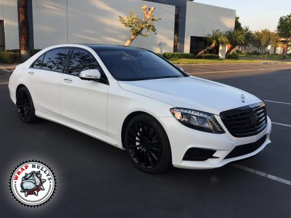Mercedes S550 Wrapped in Satin White