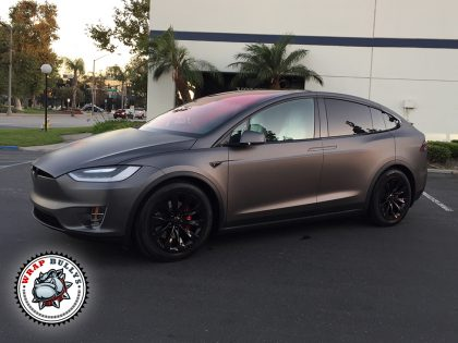 3M Dark Matte Grey Tesla Model X Car Wrap