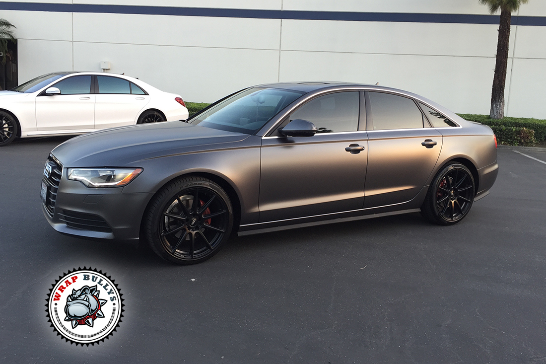 Audi A6 Wrapped In 3m Satin Dark Gray Wrap Bullys