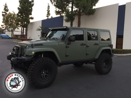 Matte Army Green Jeep Wrap
