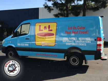 L&L Hawaiian Barbecue Sprinter Van Wrap