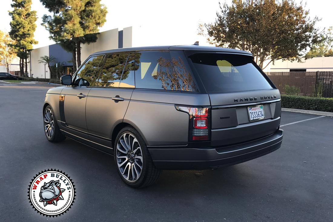 Matte Range Rover >> Range Rover Wrapped In 3m Matte Gray Wrap Bullys