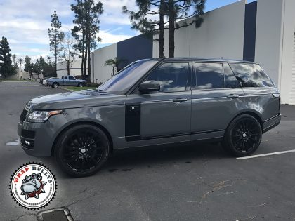 Range Rover Wrapped in Avery Dark Gray