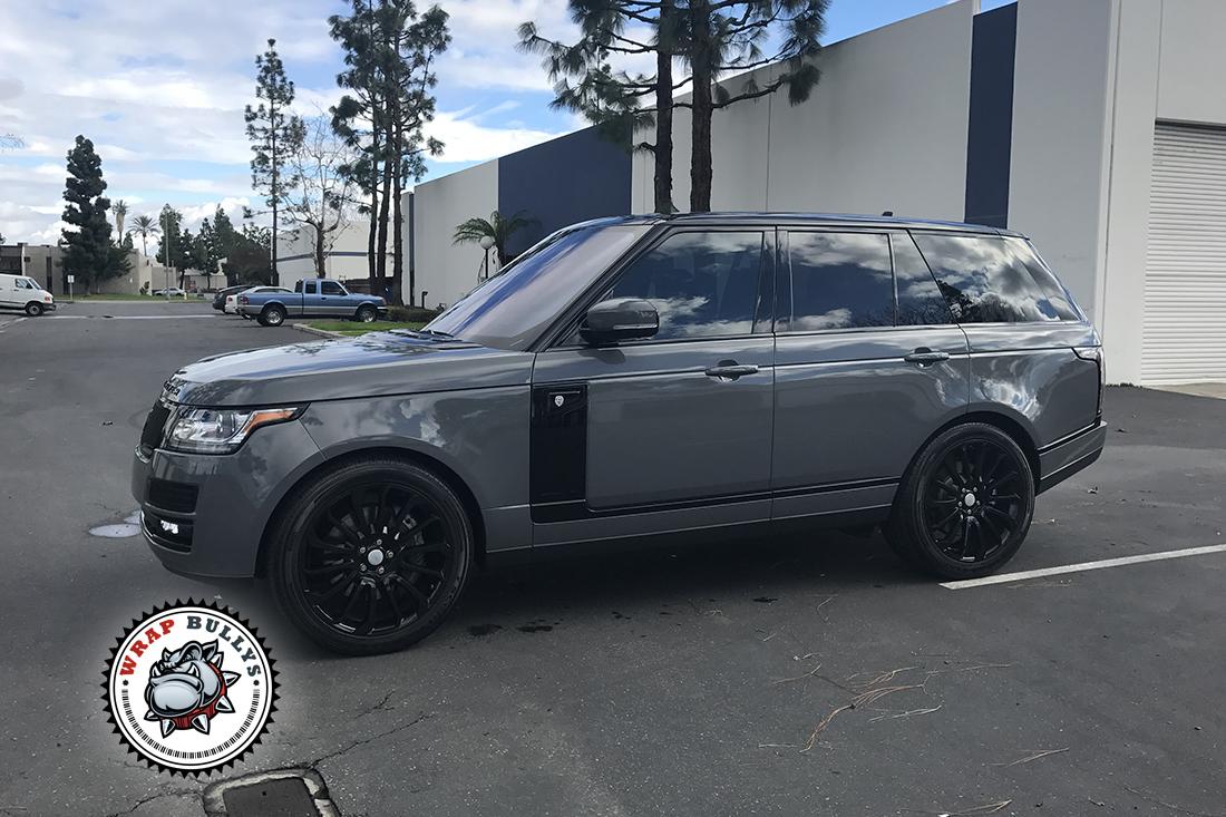 2018 Matte Black Range Rover >> Range Rover Wrapped in Avery Dark Gray | Wrap Bullys