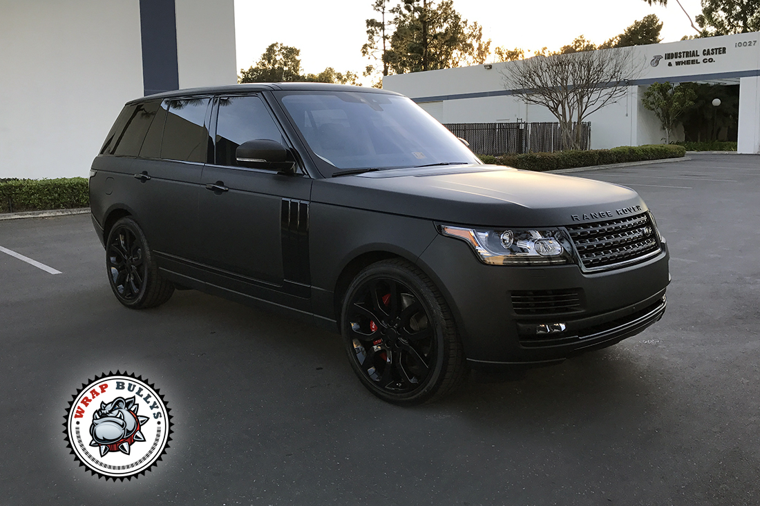 Matte Range Rover >> Range Rover Wrapped In 3m Deep Matte Black Wrap Bullys