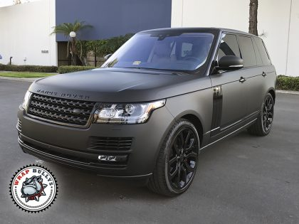 Matte Black Range Rover Car Wrap
