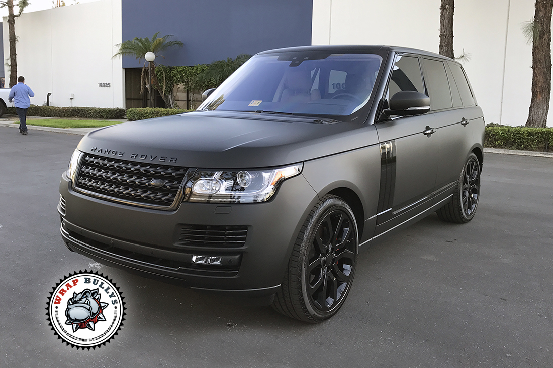 Range Rover Wrapped In 3m Deep Matte Black Wrap Bullys