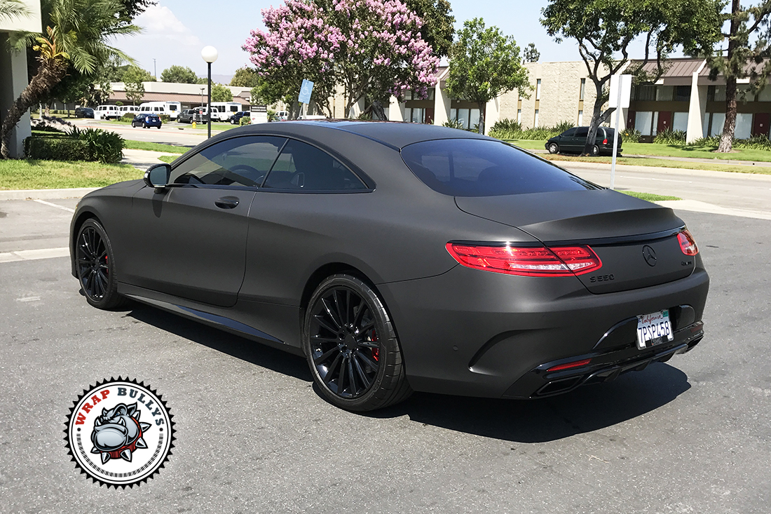 Mercedes Benz S Coupe Wrapped In 3m Matte Black Wrap Bullys