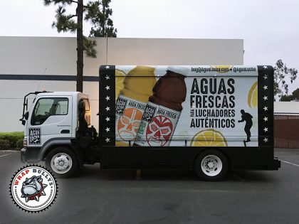 Aguas Frescas Isuzu Box Truck Wrap