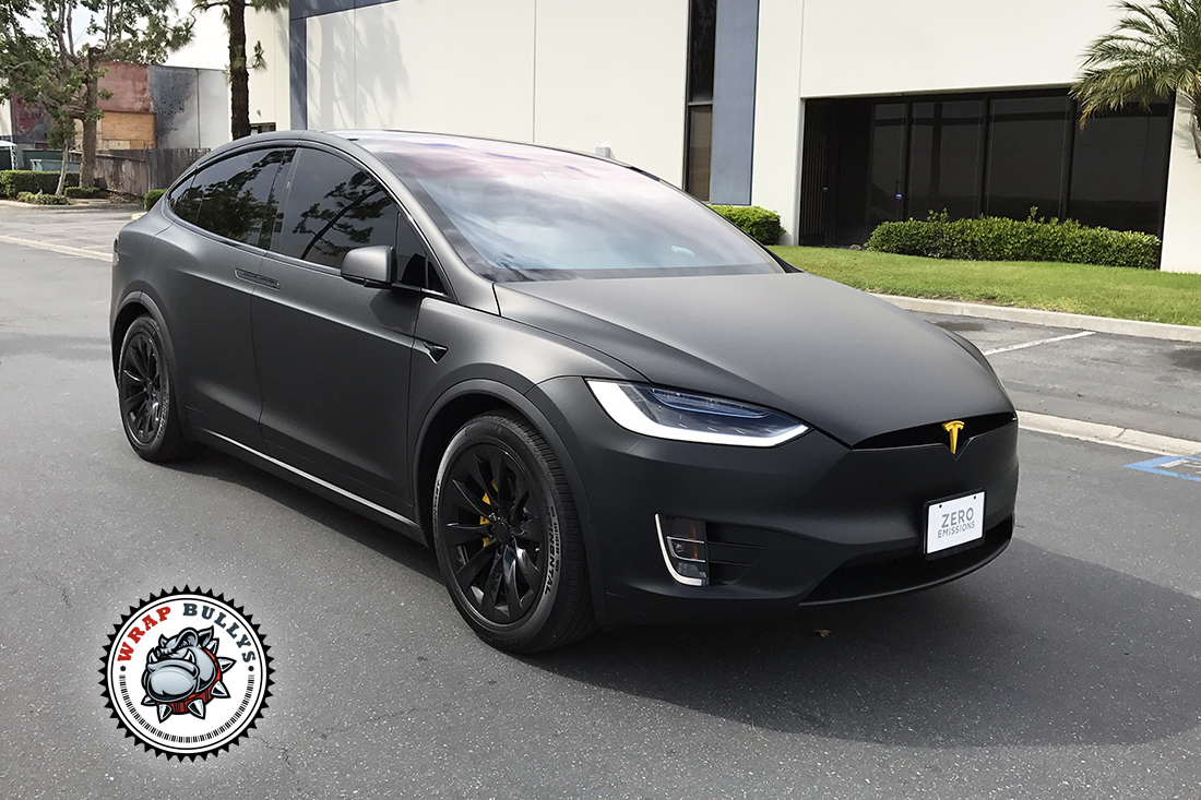 Chrome Car Wrap >> Tesla X Wrapped in 3M Deep Matte Black | Wrap Bullys